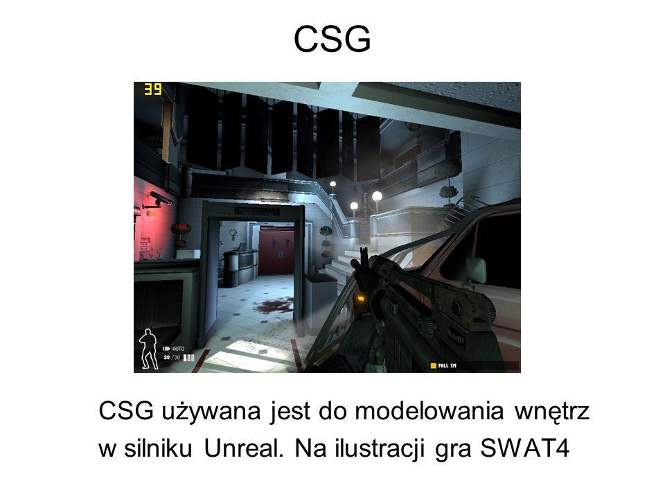 CSG CSG używana jest do modelowania wnętrz