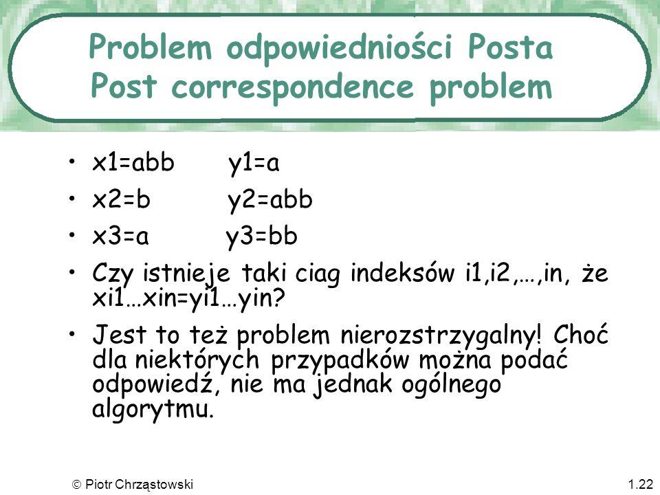 Problem odpowiedniości Posta Post correspondence problem
