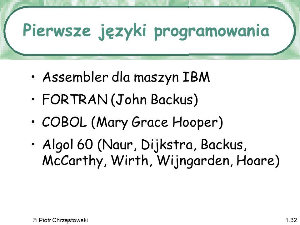 Pierwsze języki programowania