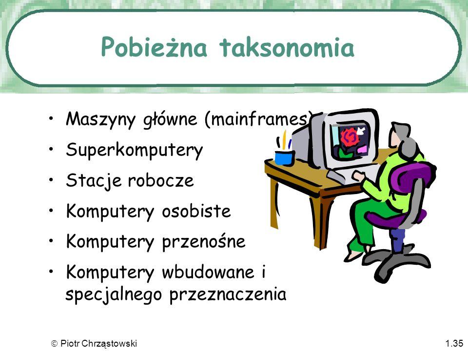 Pobieżna taksonomia Maszyny główne (mainframes) Superkomputery