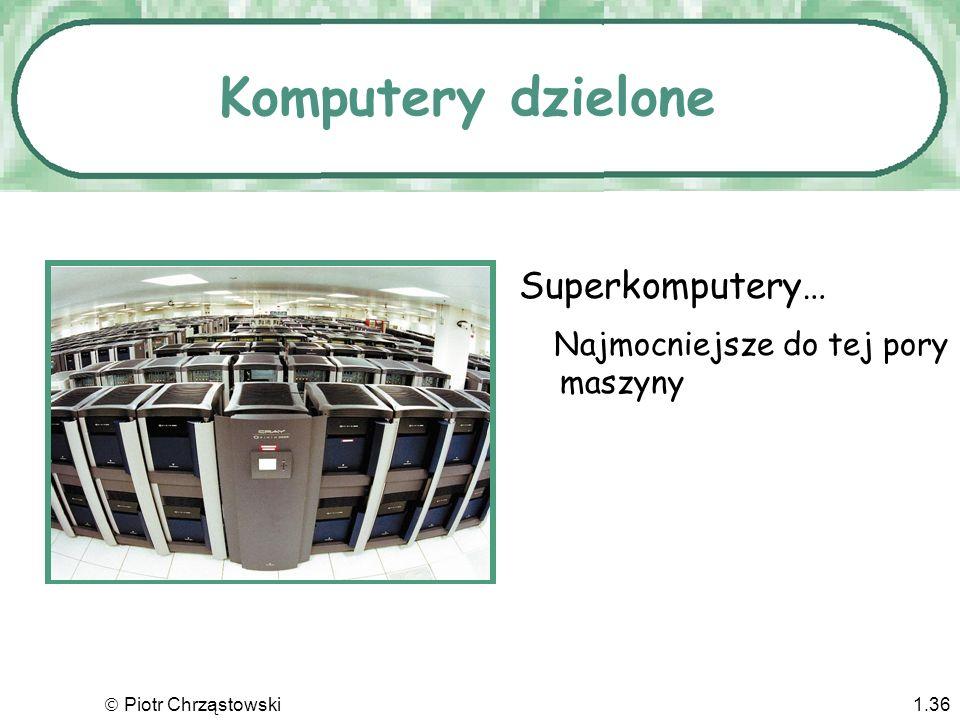 Komputery dzielone Superkomputery… Najmocniejsze do tej pory maszyny