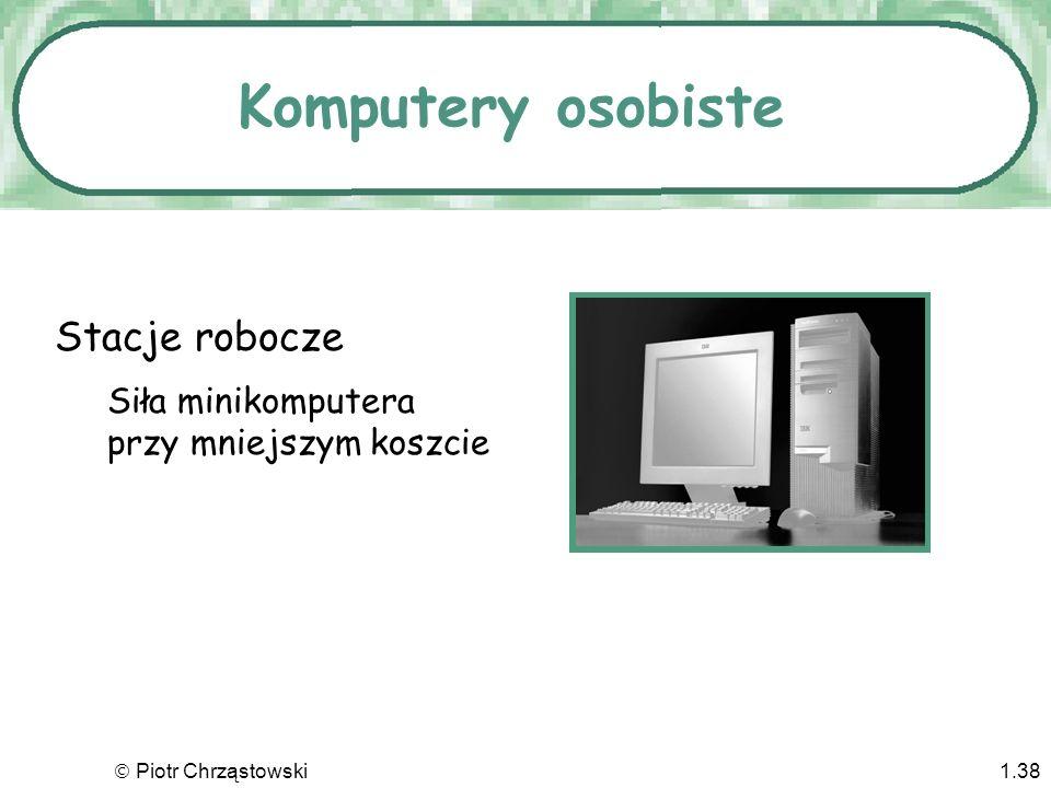 Komputery osobiste Stacje robocze