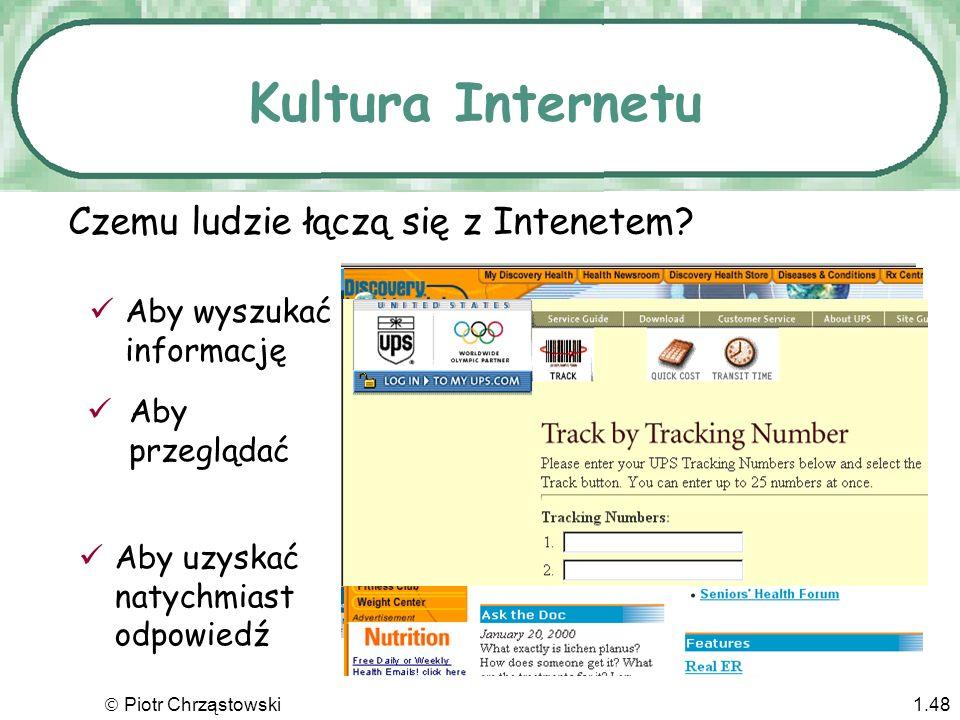 Kultura Internetu Czemu ludzie łączą się z Intenetem