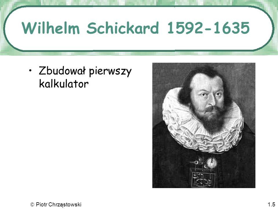 Wilhelm Schickard 1592-1635 Zbudował pierwszy kalkulator