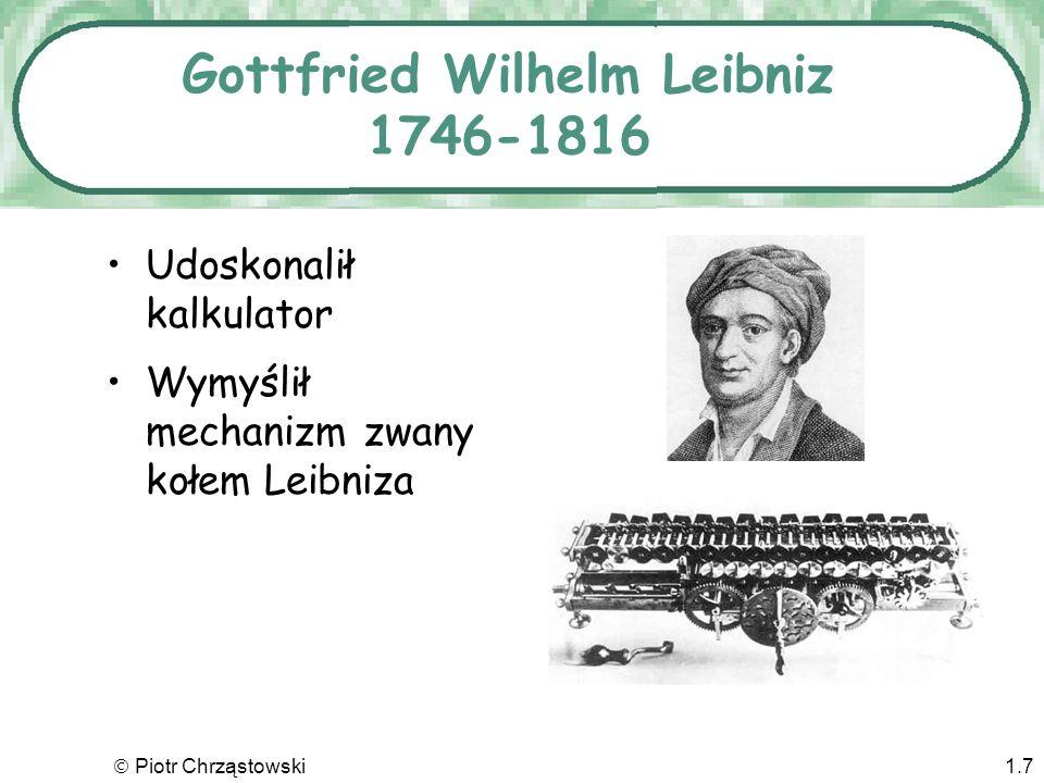 Gottfried Wilhelm Leibniz 1746-1816