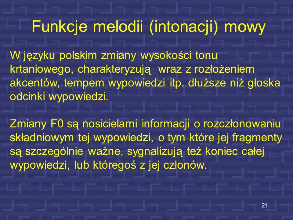 Funkcje melodii (intonacji) mowy
