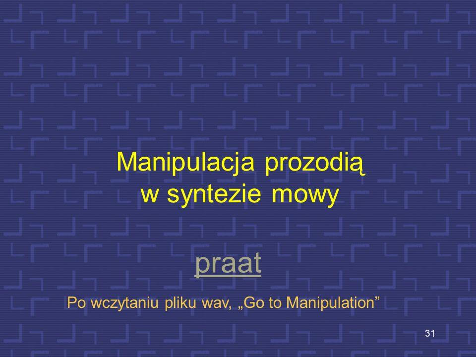 Manipulacja prozodią w syntezie mowy