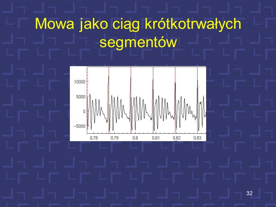 Mowa jako ciąg krótkotrwałych segmentów