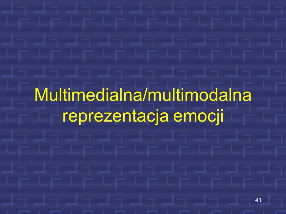 Multimedialna/multimodalna reprezentacja emocji