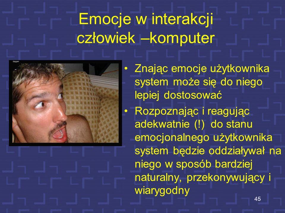 Emocje w interakcji człowiek –komputer