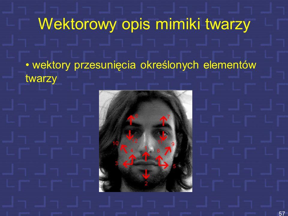 Wektorowy opis mimiki twarzy