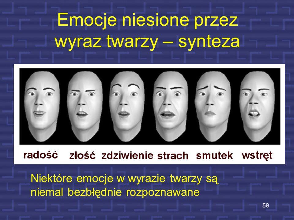 Emocje niesione przez wyraz twarzy – synteza