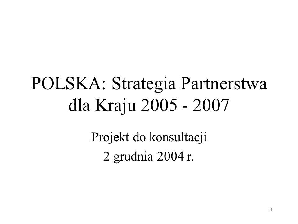 POLSKA: Strategia Partnerstwa dla Kraju 2005 - 2007