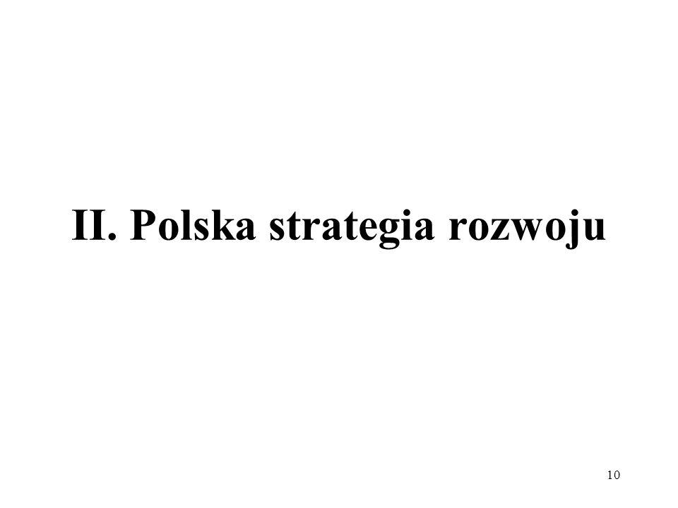 II. Polska strategia rozwoju