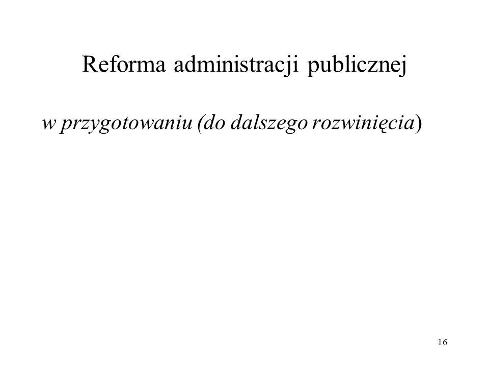 Reforma administracji publicznej