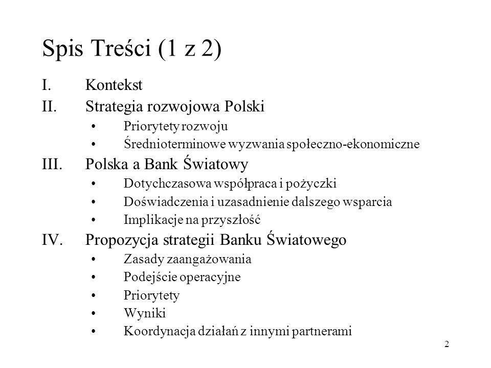 Spis Treści (1 z 2) I. Kontekst Strategia rozwojowa Polski