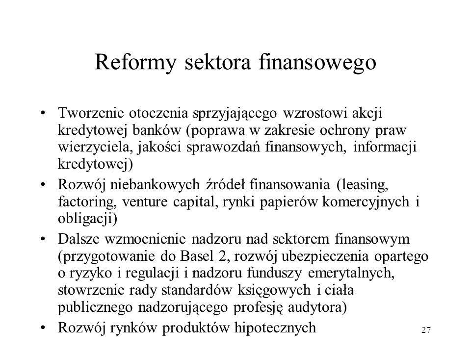 Reformy sektora finansowego