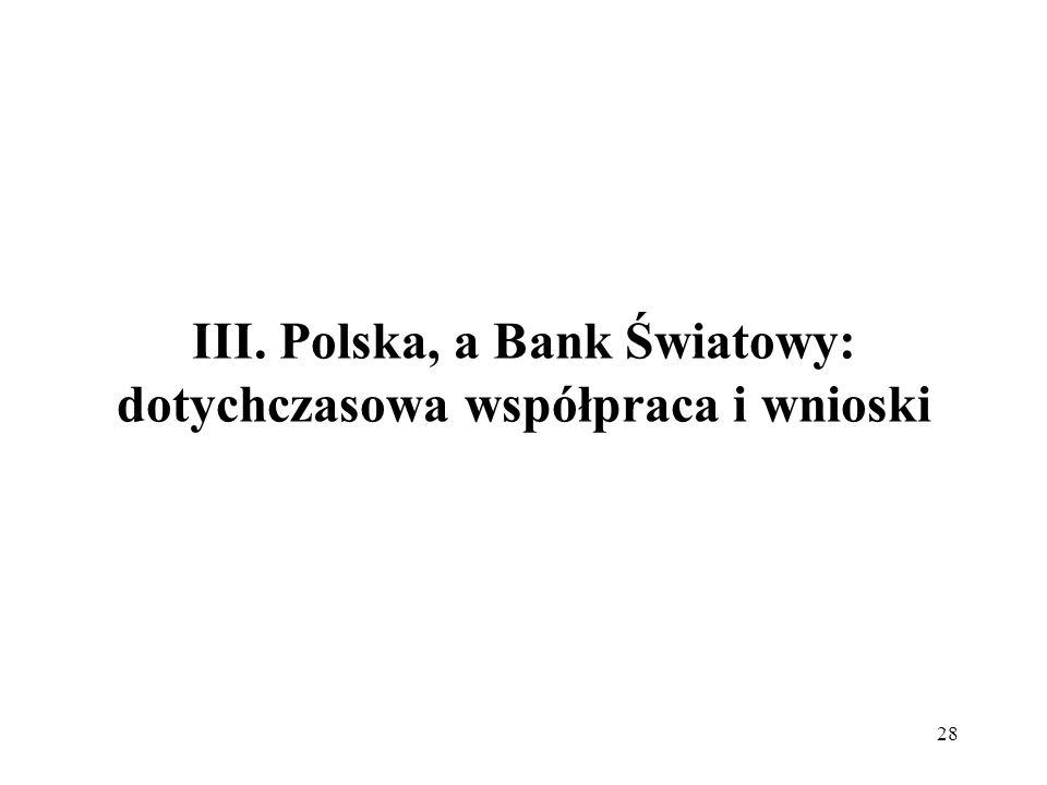 III. Polska, a Bank Światowy: dotychczasowa współpraca i wnioski