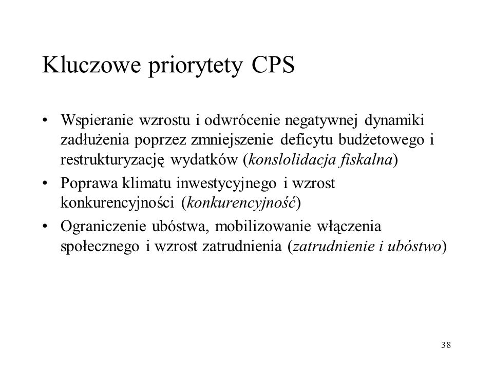 Kluczowe priorytety CPS