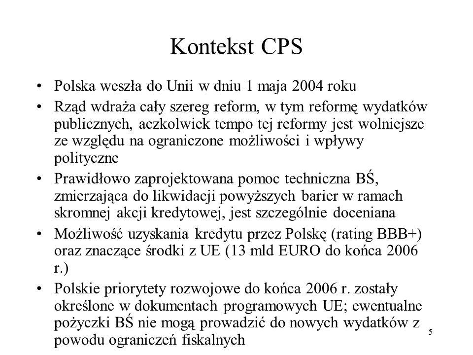 Kontekst CPS Polska weszła do Unii w dniu 1 maja 2004 roku