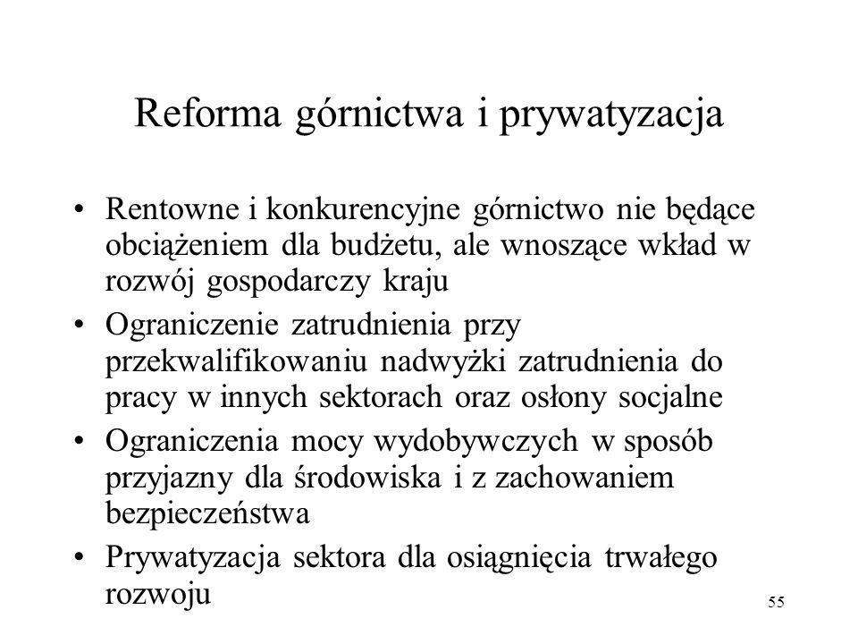 Reforma górnictwa i prywatyzacja