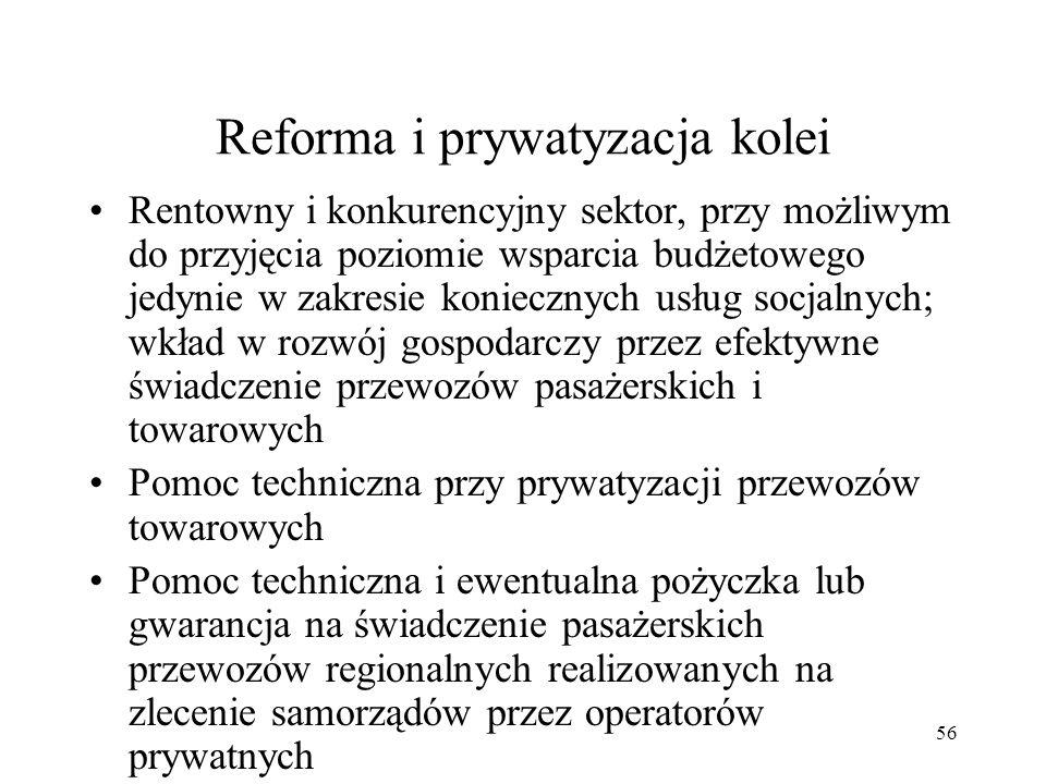 Reforma i prywatyzacja kolei
