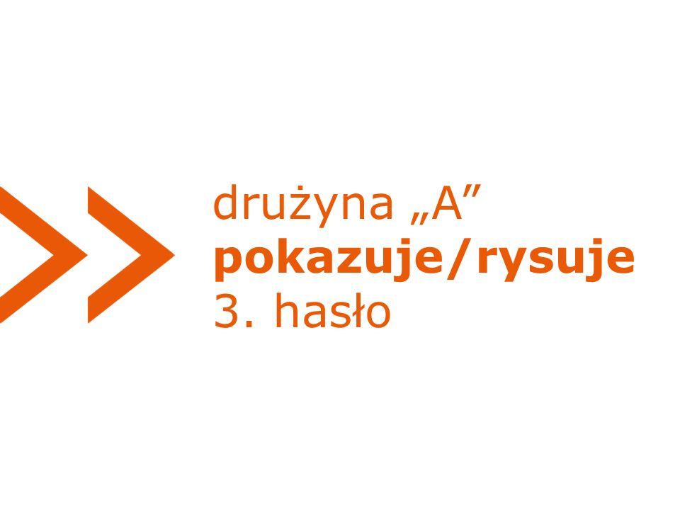 """drużyna """"A pokazuje/rysuje 3. hasło"""