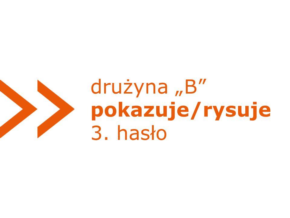 """drużyna """"B pokazuje/rysuje 3. hasło"""