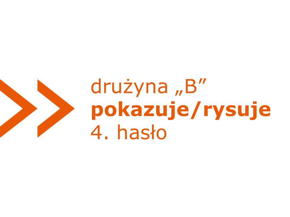 """drużyna """"B pokazuje/rysuje 4. hasło"""