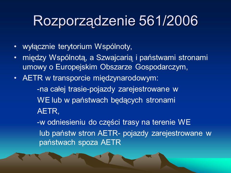 Rozporządzenie 561/2006 wyłącznie terytorium Wspólnoty,