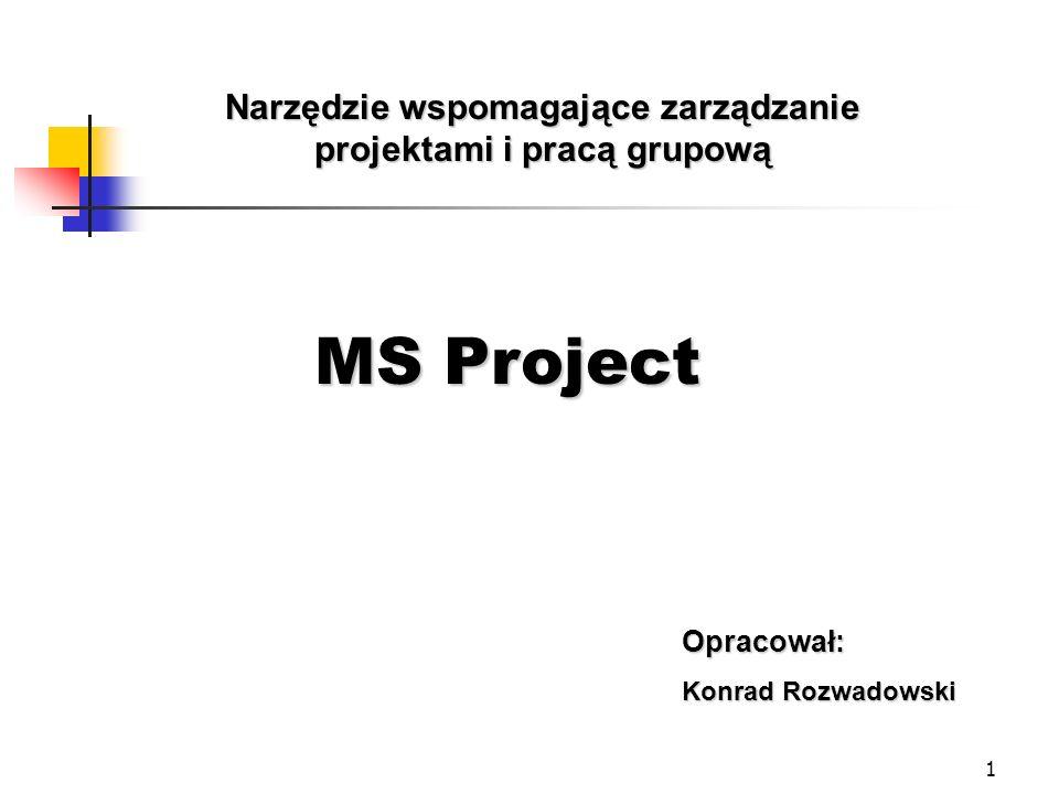 Narzędzie wspomagające zarządzanie projektami i pracą grupową