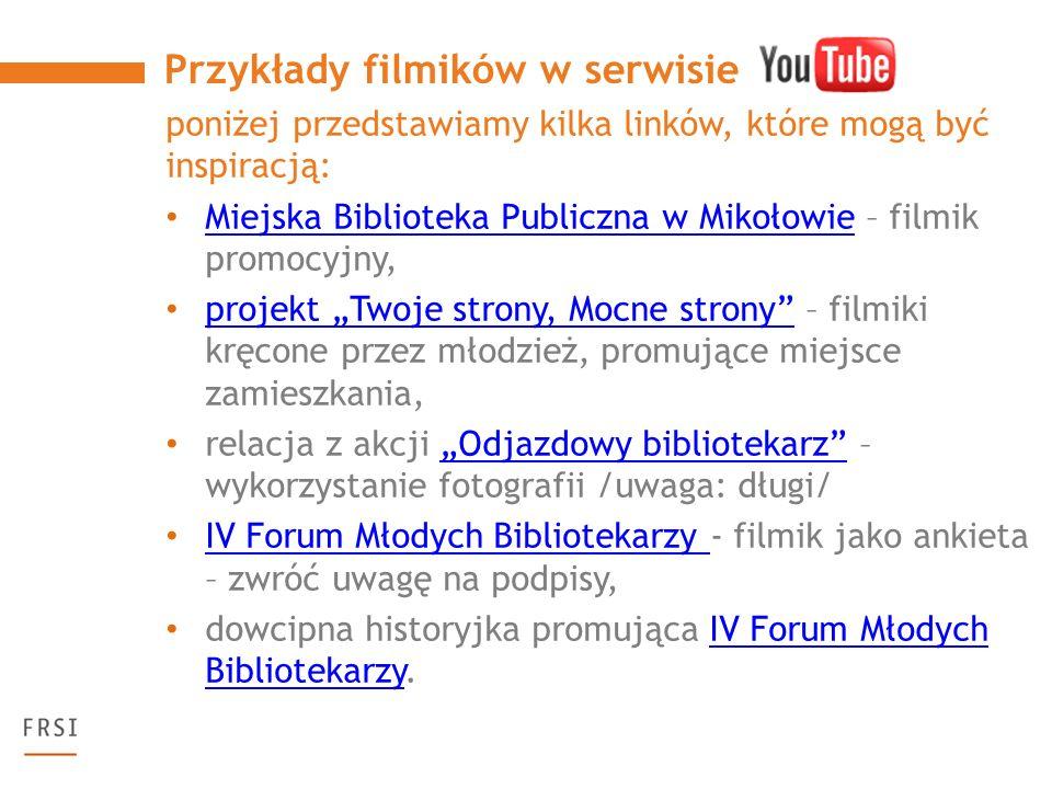 Przykłady filmików w serwisie