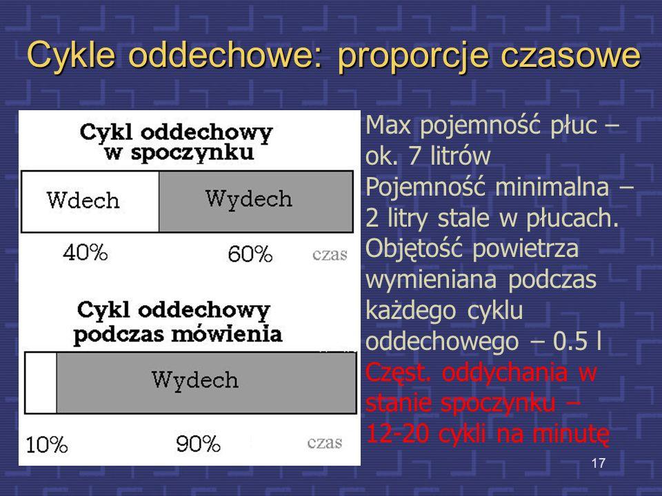 Cykle oddechowe: proporcje czasowe