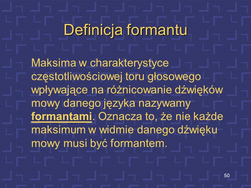 Definicja formantu