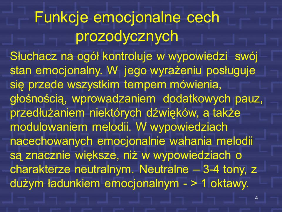 Funkcje emocjonalne cech prozodycznych