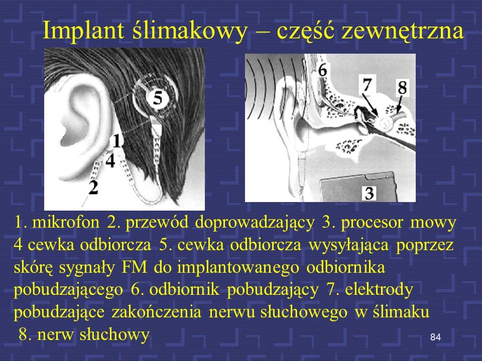 Implant ślimakowy – część zewnętrzna