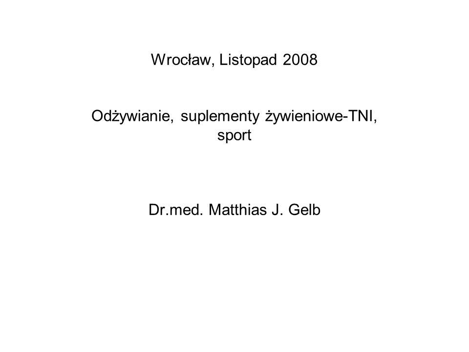 Wrocław, Listopad 2008 Odżywianie, suplementy żywieniowe-TNI, sport Dr