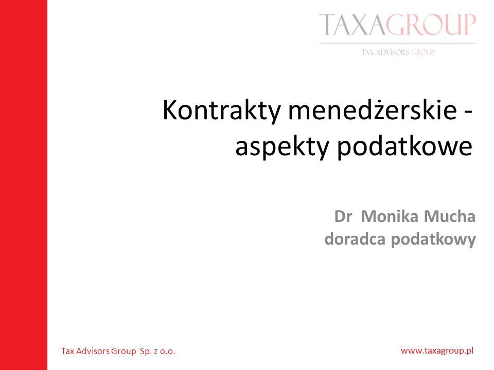 Kontrakty menedżerskie - aspekty podatkowe