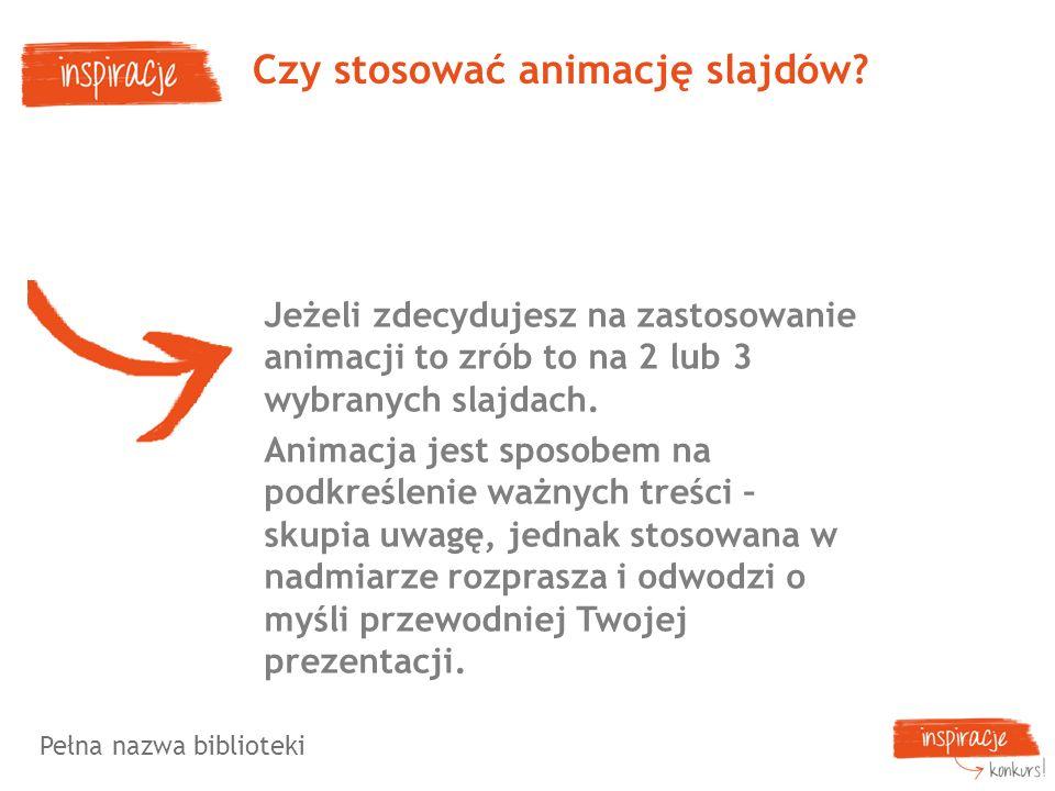 Czy stosować animację slajdów