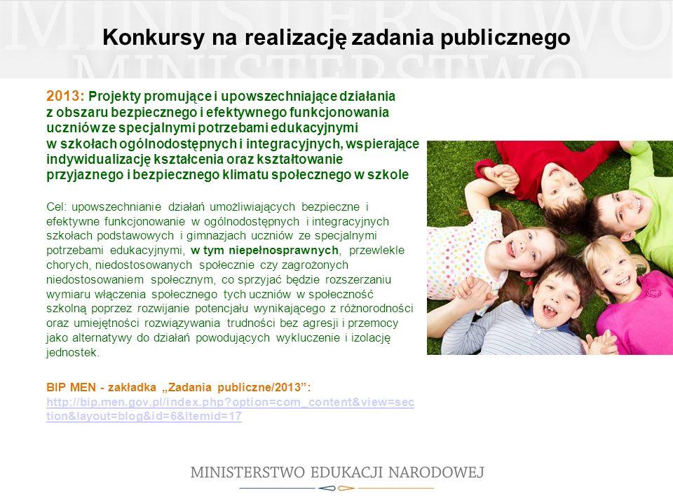 Konkursy na realizację zadania publicznego