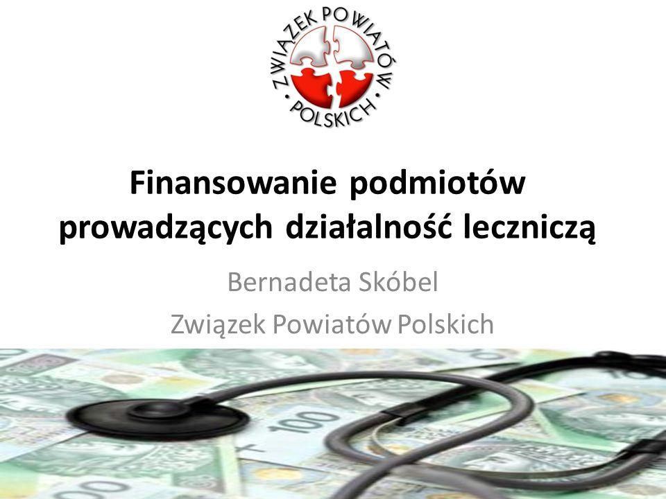Finansowanie podmiotów prowadzących działalność leczniczą