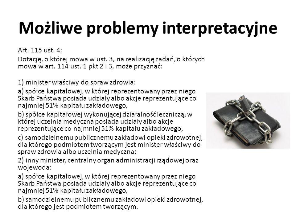 Możliwe problemy interpretacyjne