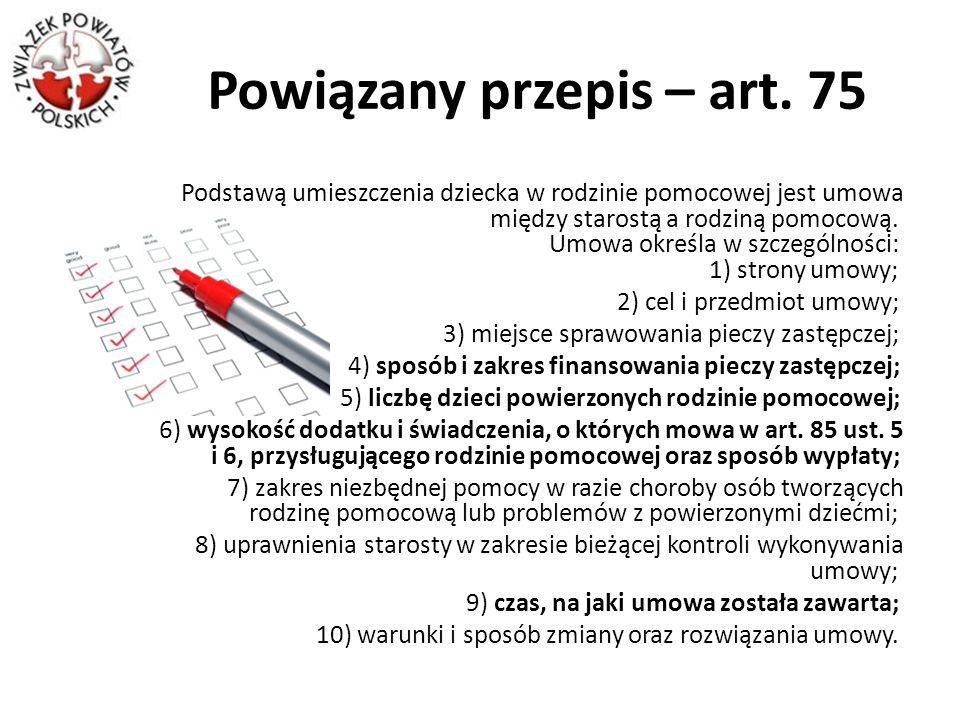 Powiązany przepis – art. 75