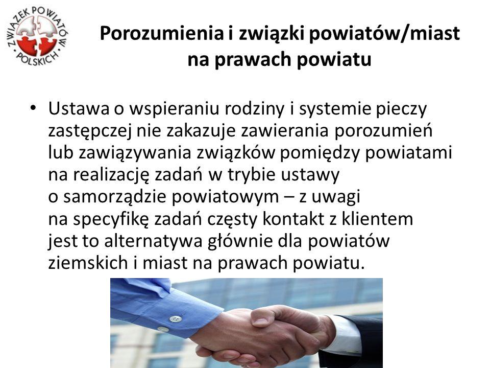 Porozumienia i związki powiatów/miast na prawach powiatu