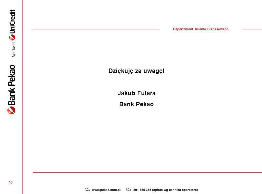 Dziękuję za uwagę! Jakub Fulara Bank Pekao
