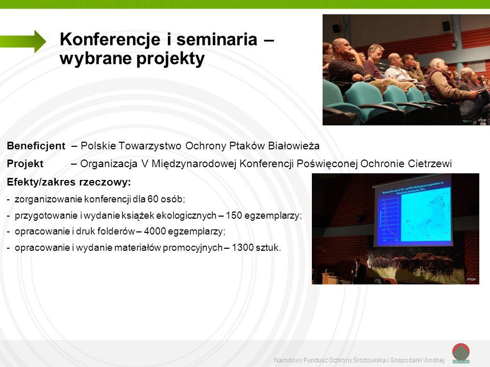 Konferencje i seminaria – wybrane projekty
