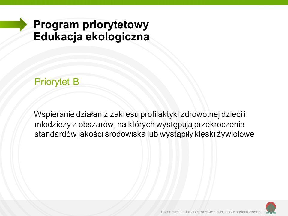 Program priorytetowy Edukacja ekologiczna