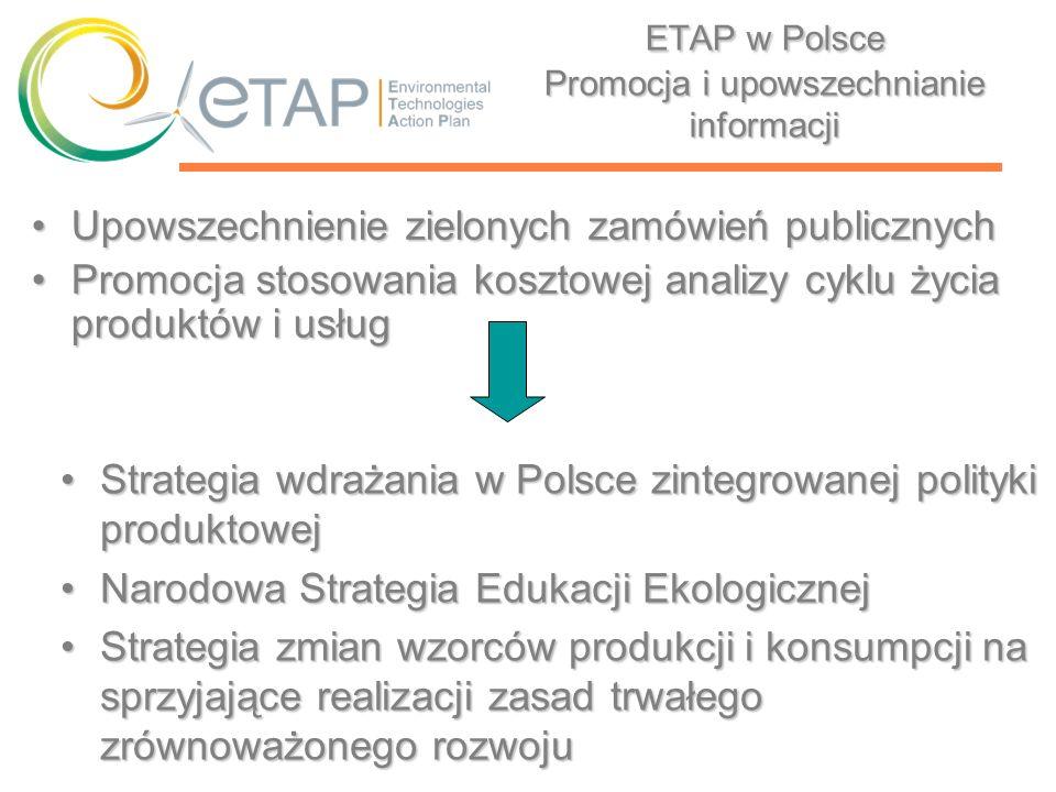 ETAP w Polsce Promocja i upowszechnianie informacji