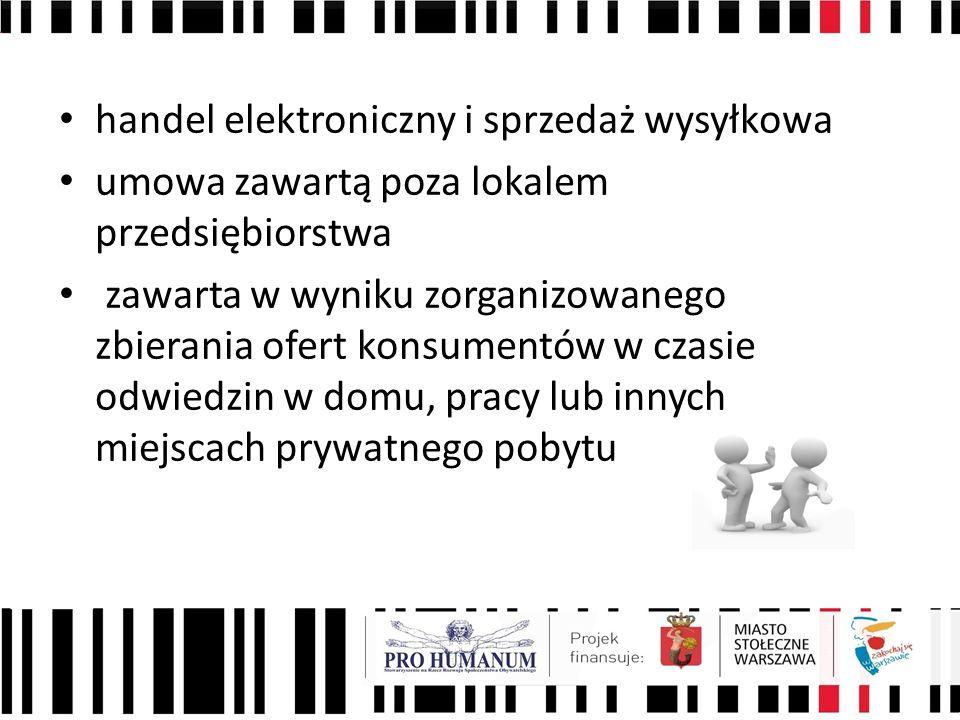 handel elektroniczny i sprzedaż wysyłkowa
