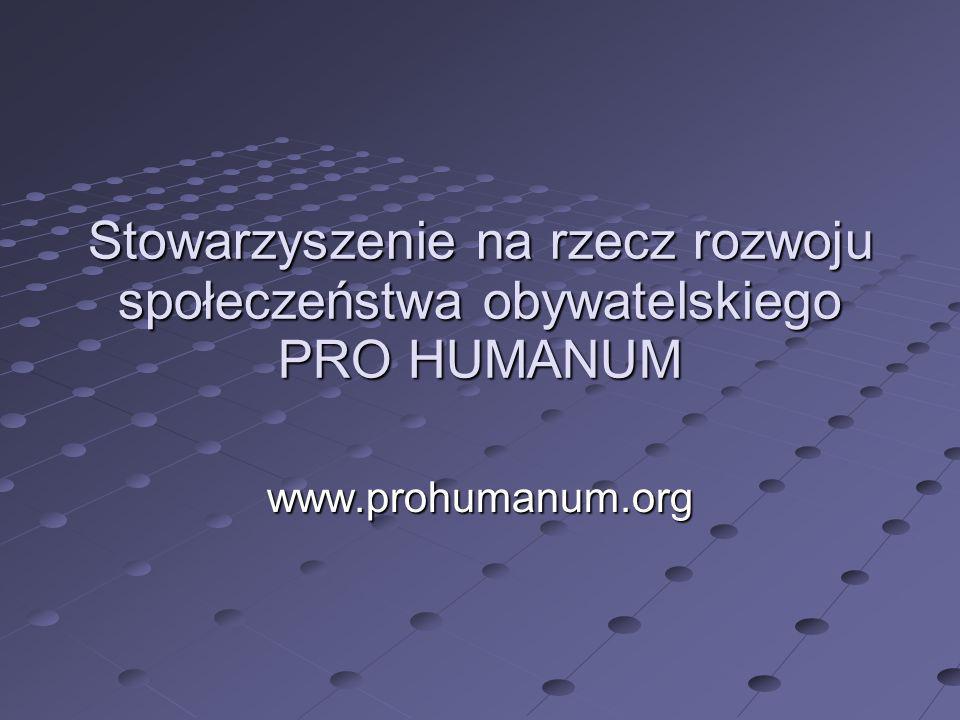 Stowarzyszenie na rzecz rozwoju społeczeństwa obywatelskiego PRO HUMANUM
